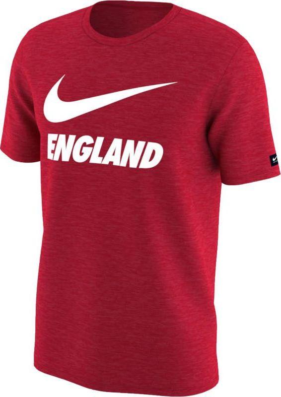 Футболка мужская Nike Dry England, цвет: красный. 888873-600. Размер XL (52/54)888873-600Мужская футболка England Dri-FIT из мягкой влагоотводящей ткани обеспечивает длительный комфорт на трибунах и на улице. Модель с короткими рукавами и круглым вырезом горловины.