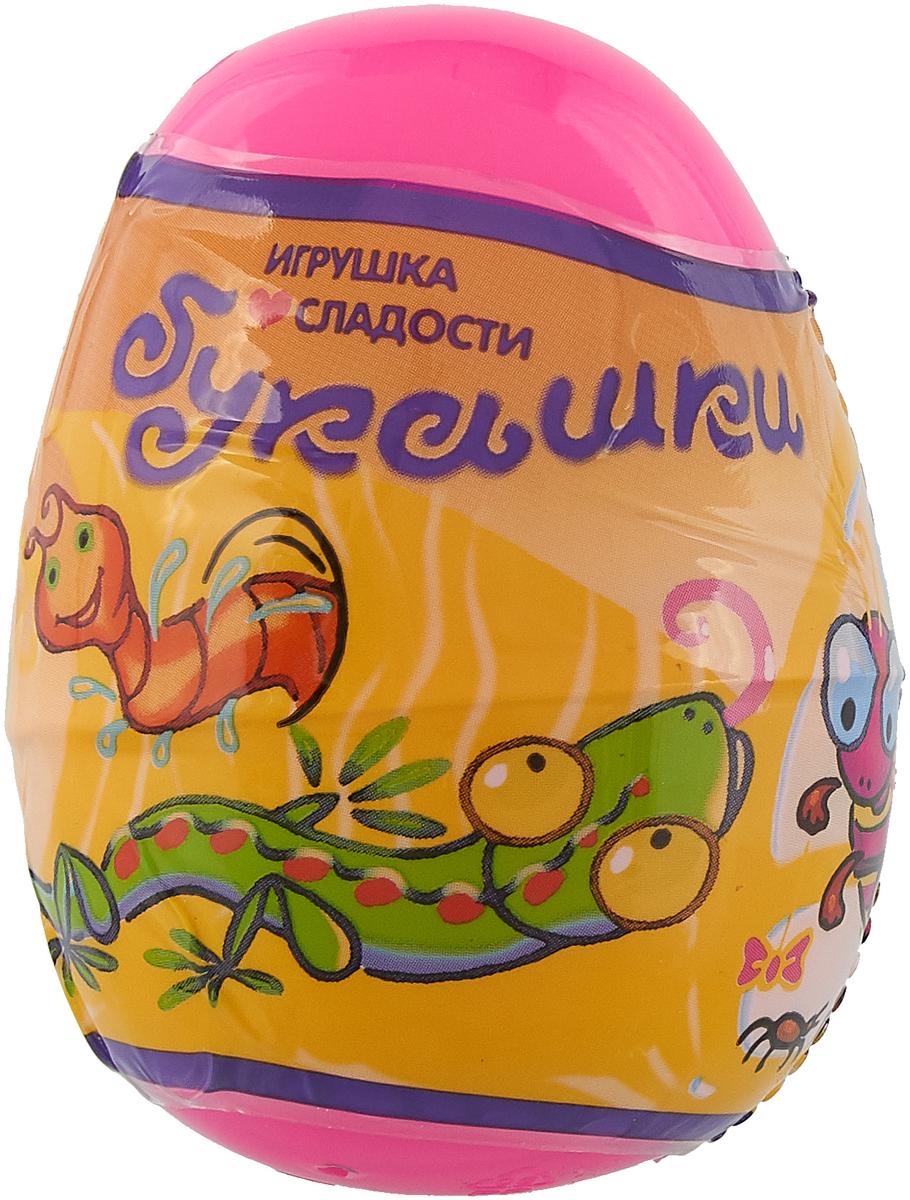 Букашки Живая планета пластиковое яйцо с игрушкой и карамелью, 5 г
