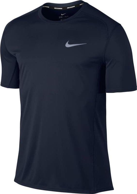 Футболка мужская Nike Dry Miler Running Top, цвет: темно-синий. 833591-451. Размер S (44/46)