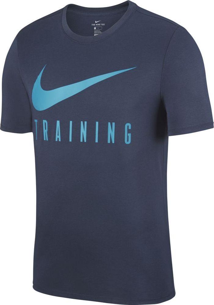 Футболка мужская Nike Dry, цвет: синий. AH6503-471. Размер M (46/48) футболка мужская nike dry training top цвет темно синий 832864 492 размер m 46 48