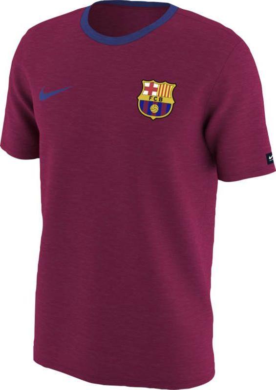 Футболка мужская Nike FC Barcelona Football T-Shirt, цвет: бордовый. 888801-620. Размер XXL (54/56)