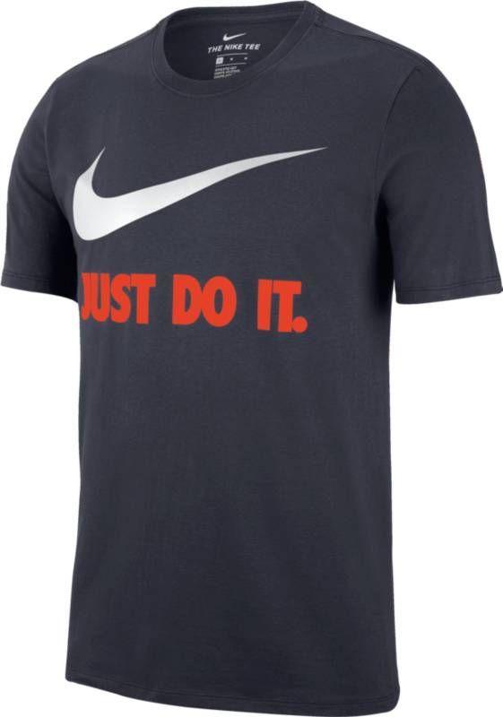 Фото Футболка мужская Nike New Just Do It Swoosh, цвет: синий. 707360-475. Размер XXL (54/56)
