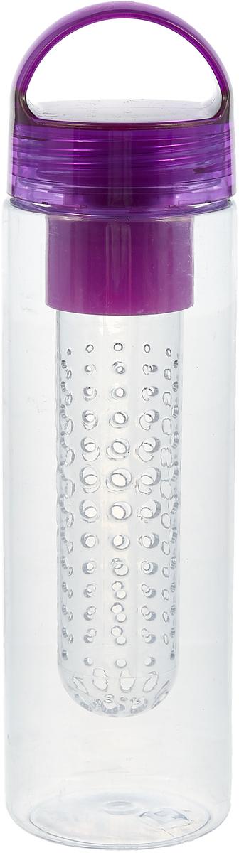 Бутылка Mayer & Boch, с инфузером, цвет: фиолетовый, 650 мл. 27102