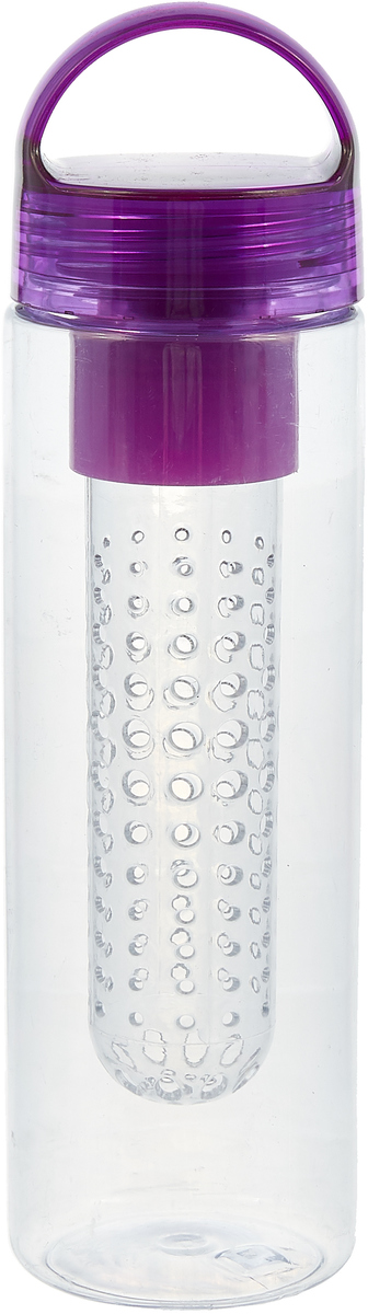 Бутылка Mayer & Boch, с инфузером, цвет: фиолетовый, 650 мл. 27102 фен mayer