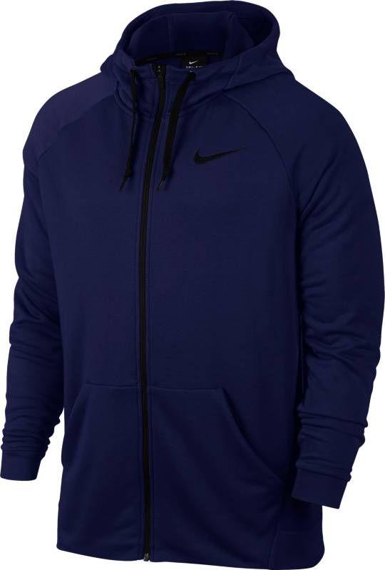 Толстовка мужская Nike Nk Dry Hoodie Fz Fleece, цвет: нэви. 860465-492. Размер XXL (54/56)