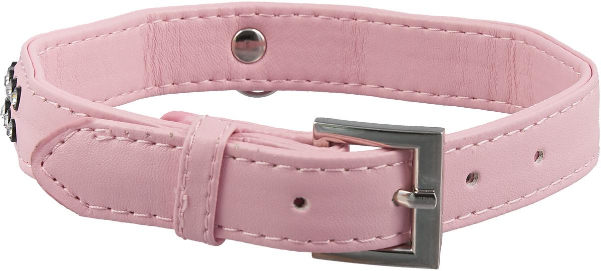 """Фото Ошейник для собак """"GLG"""", цвет: розовый, 2 x 42 см"""