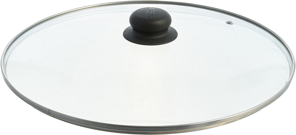 Крышка Regent Inox, стеклянная. Диаметр 32 см. 93-LID-01-32_черная ручка regent inox крышка низкая с пароотводом regent inox 93 lid 01 30 30 см mzj7s tp