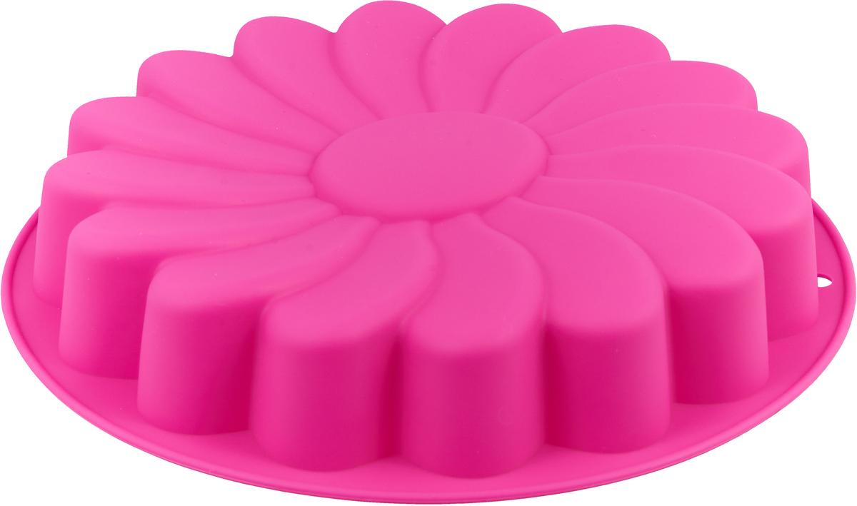 """Форма для выпечки Доляна """"Ромашка"""", цвет: малиновый, 23 х 4,5 см   Как выбрать форму для выпечки – статья на OZON Гид."""