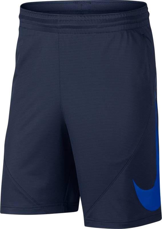 Шорты мужские Nike Basketball Shorts, цвет: синий. 910704-410. Размер XXL (54/56)910704-410Займите выгодную позицию вблизи кольца, выдавите соперника и забросьте мяч в мужских баскетбольных шортах Nike. Баскетбольные шорты с увеличенным логотипом Swoosh из легкой ткани Nike Dry имеют шаговый шов длиной 28 см, который обеспечивает превосходную защиту и полную свободу движений. Ткань Nike Dry отводит влагу и обеспечивает комфорт. Шаговый шов длиной 28 см для защиты во время игры в баскетбол. На штанине нанесен большой принт Swoosh.