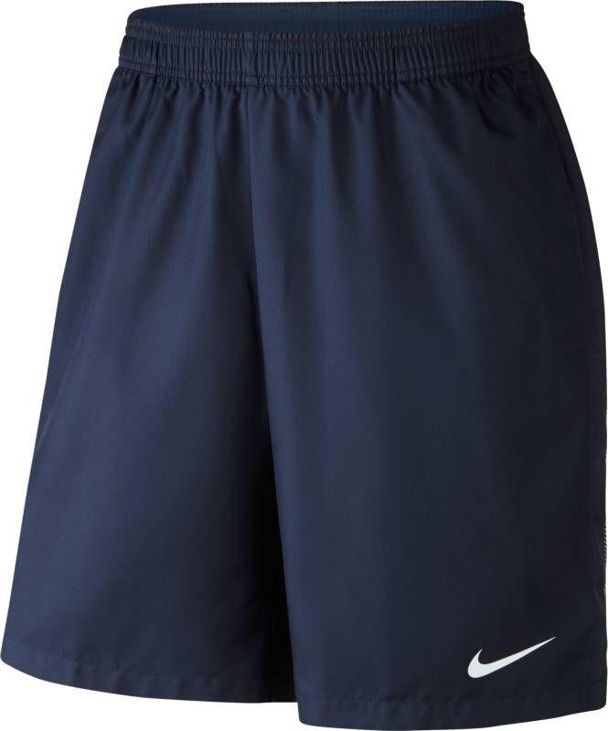 Шорты мужские Nike Court Dry Tennis Short, цвет: синий. 830821-410. Размер S (44/46)830821-410Мужские шорты Court Dry Tennis от Nike созданы для абсолютной функциональности на корте. Модель выполнена из полиэстера и дополнена глубокими карманами для удобного и надежного хранения мячей. Технология Dri-FIT обеспечивает превосходную воздухопроницаемость и комфорт, выводя влагу на поверхность ткани и позволяя коже дышать. Эластичный воздухопроницаемый пояс с внутренним шнурком для идеальной посадки модели.