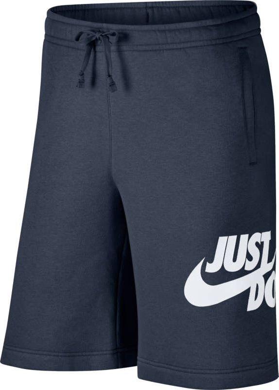 Шорты мужские Nike Sportswear Shorts, цвет: синий. 886501-471. Размер S (44/46)886501-471Mens Nike Sportswear Shorts ОПТИМАЛЬНЫЙ КОМФОРТ. КЛАССИЧЕСКИЙ КРОЙ. Мужские шорты Nike Sportswear из уютного флиса с обратным начесом с эластичным поясом и графикой JUST DO IT спереди на бедре обеспечивают полный комфорт. Флисовая ткань с начесом по изнаночной стороне для дополнительной мягкости. Эластичный пояс с утягивающим шнурком для комфорта. Графика JUST DO IT спереди на бедре. Открытые передние карманы и задний карман на кнопке для удобного хранения мелочей. Открытая нижняя кромка делает посадку свободной. 8% ХЛОПОК 2% ПОЛИЭСТЕР
