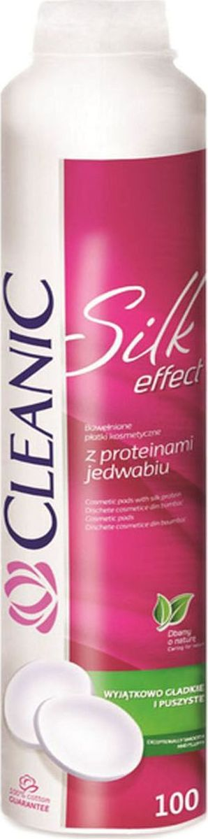 Cleanic Ватные диски Silk Effect, 100 шт