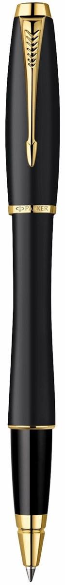 Ручка-роллер Паркер Урбан Мьютед Блэк Джи Ти. Инструмент для письма, линия письма - средняя, цвет чернил - синий, в подарочной упаковке. Произведено в Китае.