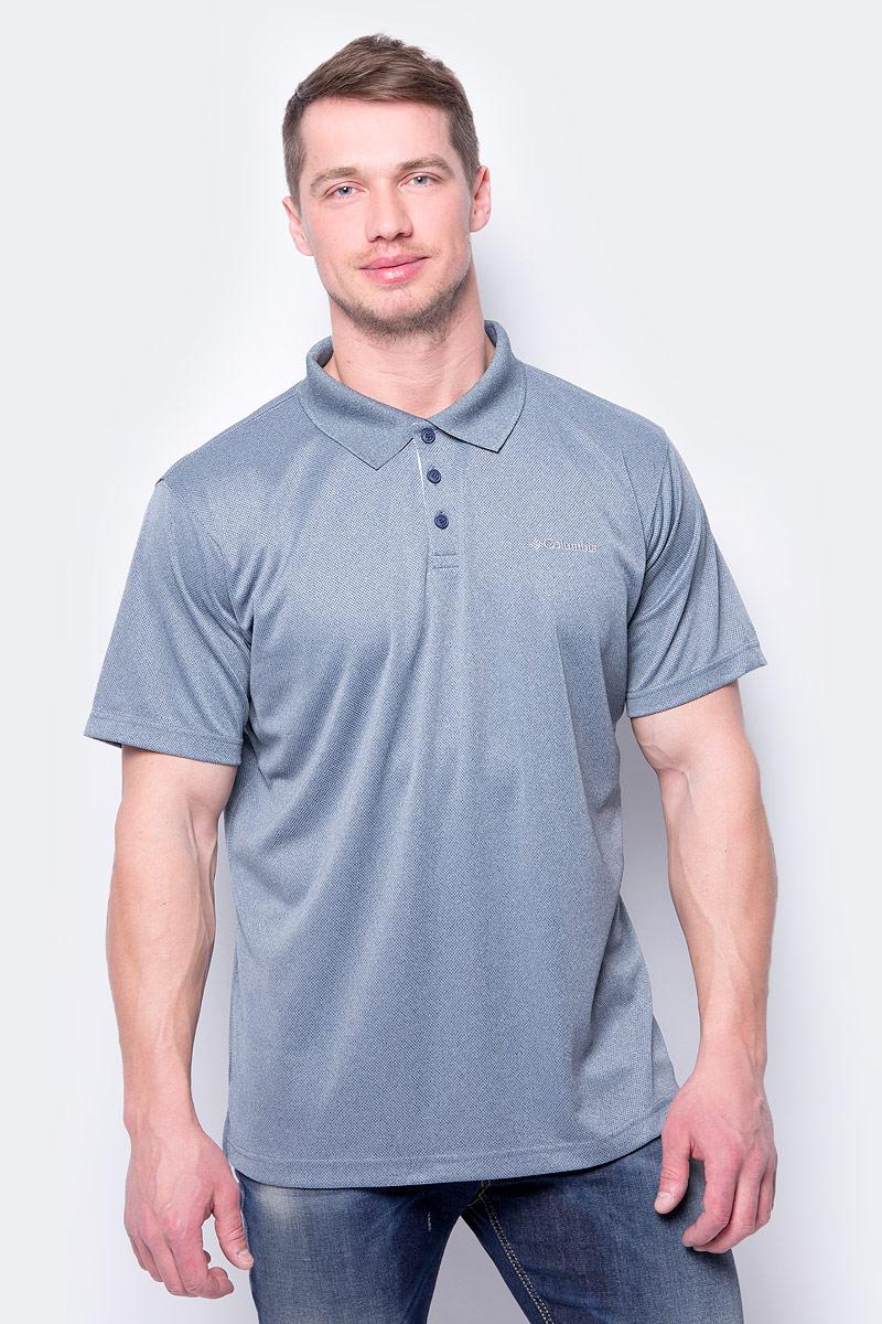 Поло мужское Columbia Utilizer Polo, цвет: серо-синий. 1772051-554. Размер XL (52/54) футболка поло columbia