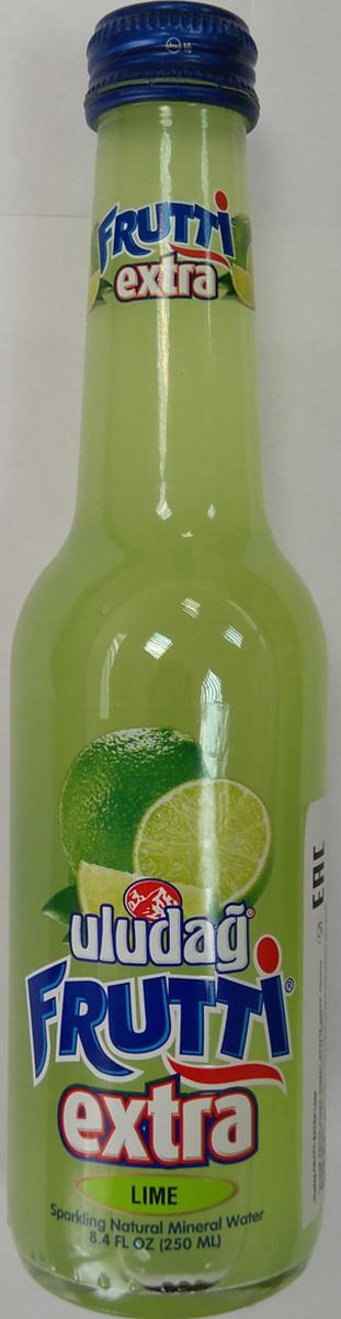 Uludag Frutti Extra Лайм напиток слабогазированный, 0,25 л uludag frutti киви и витамин с напиток среднегазированный 0 2 л