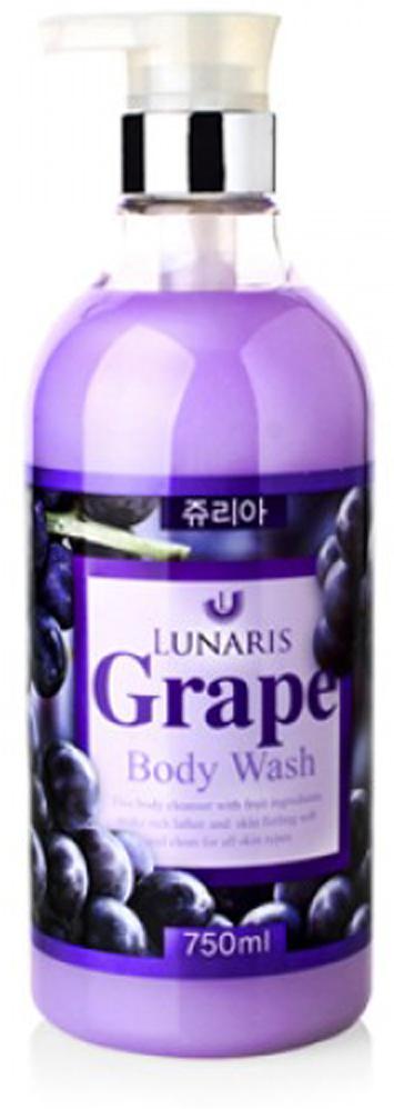 Гель для душа с экстрактом винограда, 750 мл, Lunaris353330Мягкий и нежный гель для душа с тоним и чувственным ароматом винограда. Можете наслаждаться ощущением свежести кожи после душа! Экстракт ананаса помогает избавиться от мертвых клеток на коже. Экстракты винограда, листьев лесного ореха и портулака увлажняют и оздоравливают кожу.