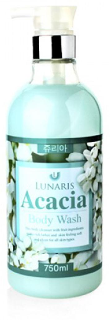 Гель для душа с экстрактом акации, 750 мл, Lunaris косметика для мамы vitamin гель для душа 5 цветов 650 мл