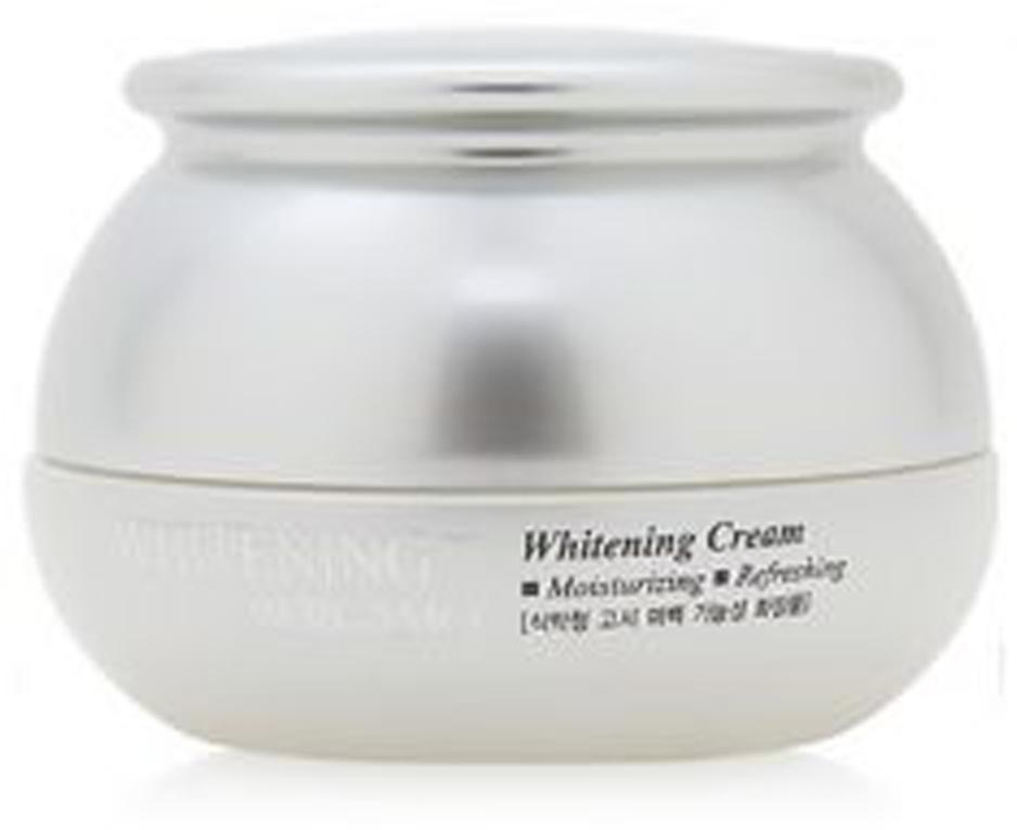 Отбеливающий крем, 50 г, Bergamo80018254Осветляющий крем для лица выравнивает тон кожи, борется с пигментацией. Масла ши и оливковое питают и увлажняют кожу, аллантоин успокаивает. Примечание: при использовании отбеливающего крема всегда наносите поверх средство с SPF.