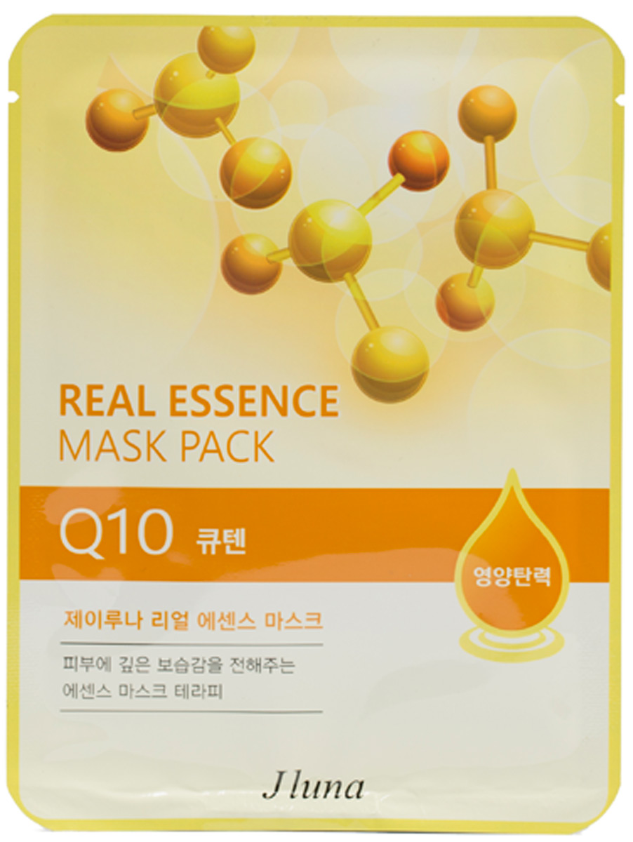 Тканевая маска с коэнзимом Q10, 25 мл, Juno frudia blueberry hydrating natural maintains moisture увлажняющая тканевая маска для лица с экстрактом черники 27 мл