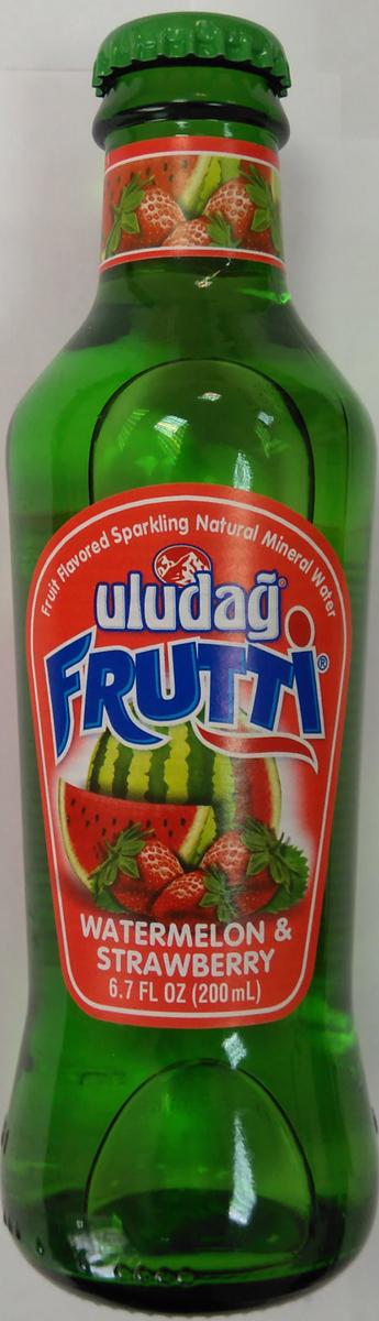 Uludag Frutti Арбуз и клубника напиток среднегазированный, 0,2 л uludag frutti extra дыня напиток слабогазированный 0 25 л