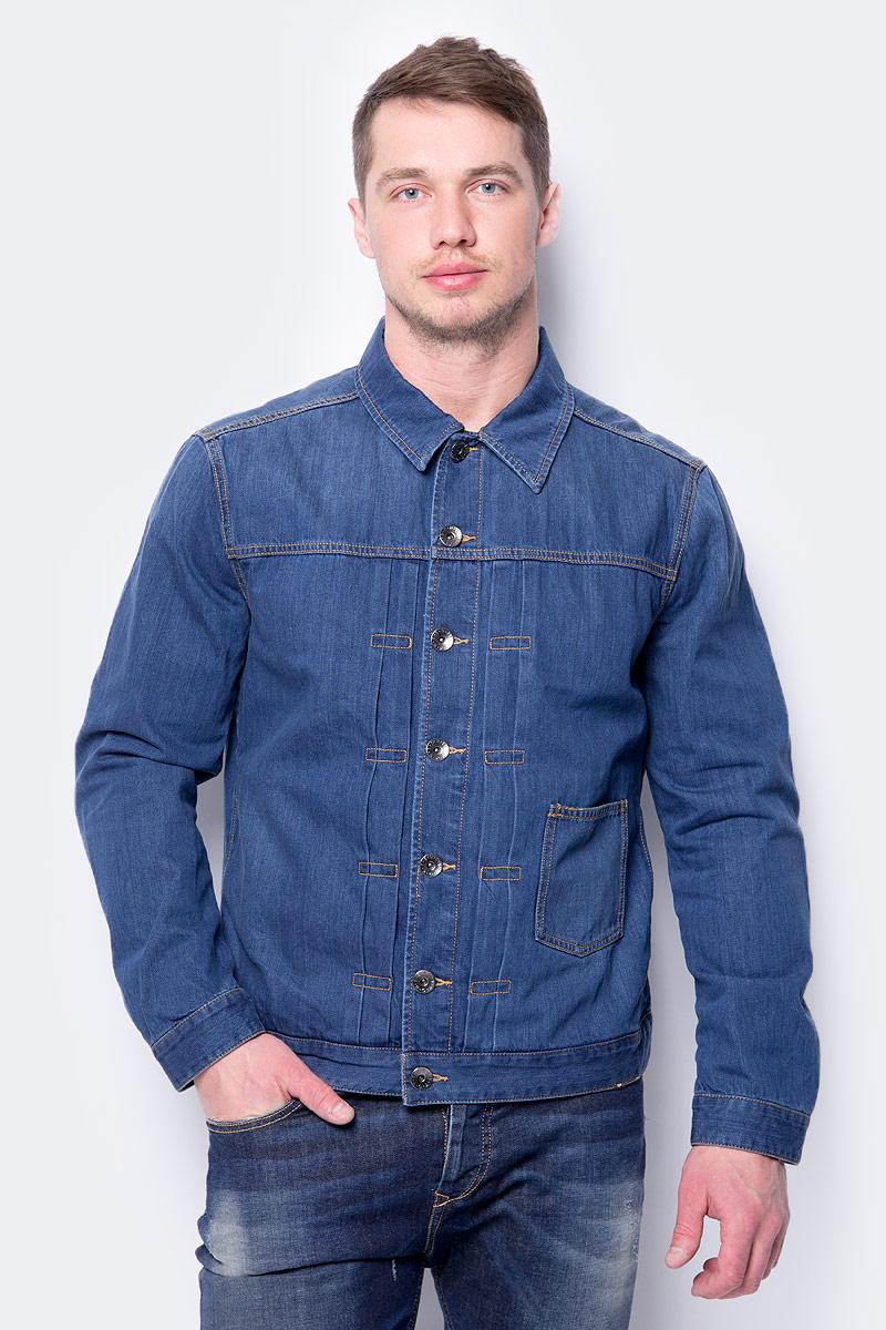 Купить Куртка мужская United Colors of Benetton, цвет: голубой. 2AL353A98_901. Размер XS (44/46)