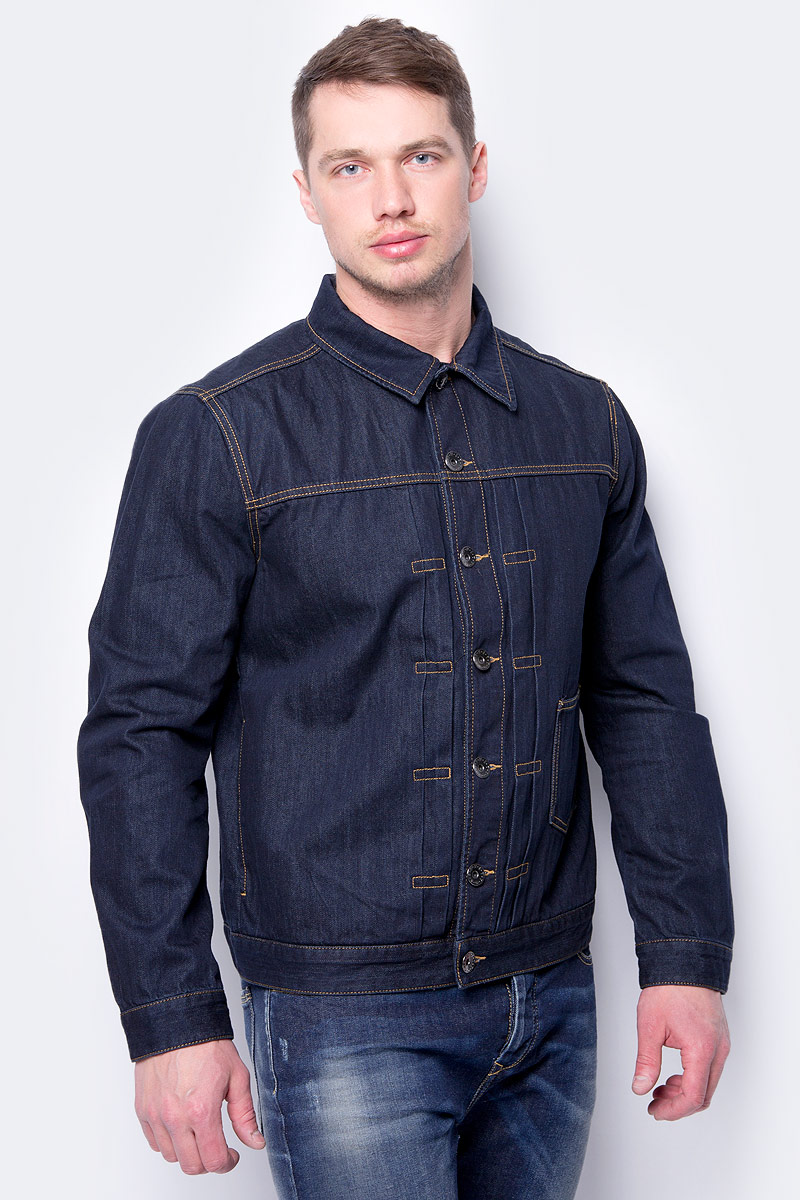 Куртка мужская United Colors of Benetton, цвет: синий. 2AL353A98_905. Размер XL (52/54)