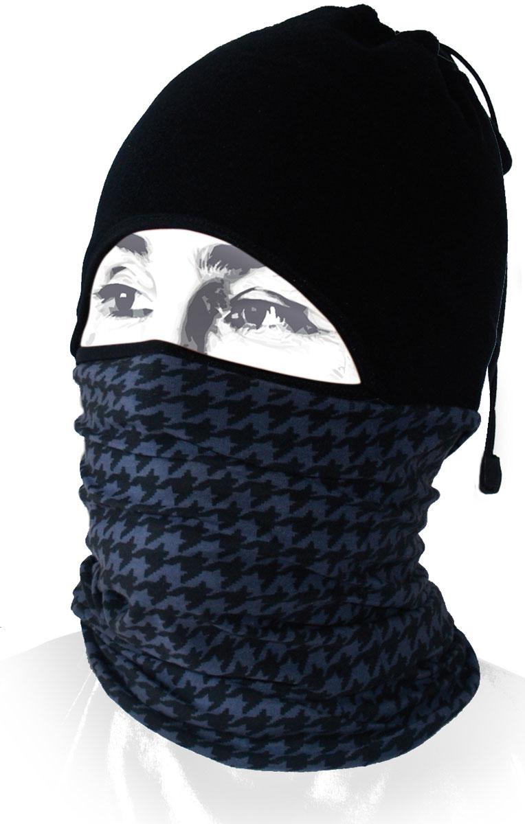 Шапка-бандана Wind X-Treme ArcticWind, цвет: черный, серый. 12253. Размер универсальный12253Многофункциональный головной убор Wind X-Treme ArcticWind - это современный предмет одежды, который защитит вас от самого лютого мороза благодаря комбинации флиса и микрофибры. Его можно использовать как шапку, бандану, маску, шарф, повязку, платок. Изделие обладает антибактериальным эффектом и подходит для занятий бегом, походов, скалолазания, езды на велосипеде, сноуборда, катания на лыжах, мотоциклах, игры в хоккей, а также для повседневного использования.Сочетание ткани и шапочки из флиса гарантирует дополнительные тепло и комфорт, отведение влаги, быстрое высыхание. Шапка-бандана подходит для обхвата головы 53-62 см.