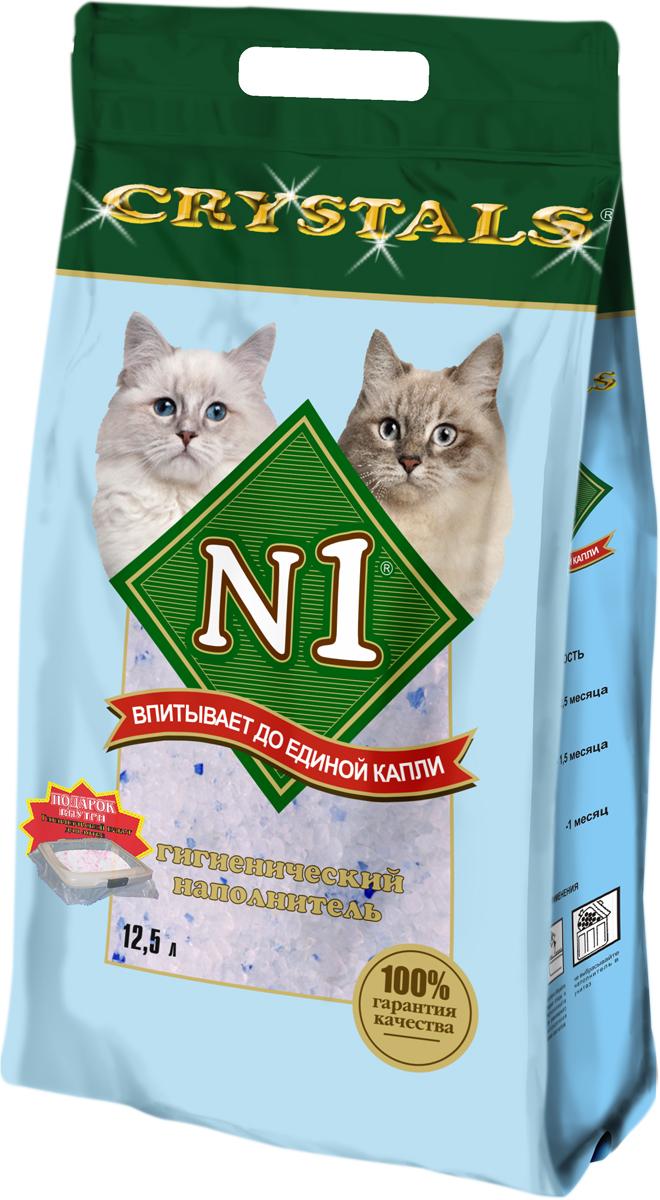 Наполнитель для кошачьего туалета №1  Crystals , силикагелевый, 12,5 л - Наполнители и туалетные принадлежности - Наполнители