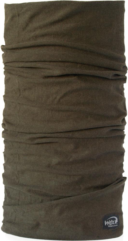 Бандана Wind X-Treme MerinoWool, цвет: зелено-коричневый. 5109. Размер универсальный buff бандана junior high uv 50 55 faded