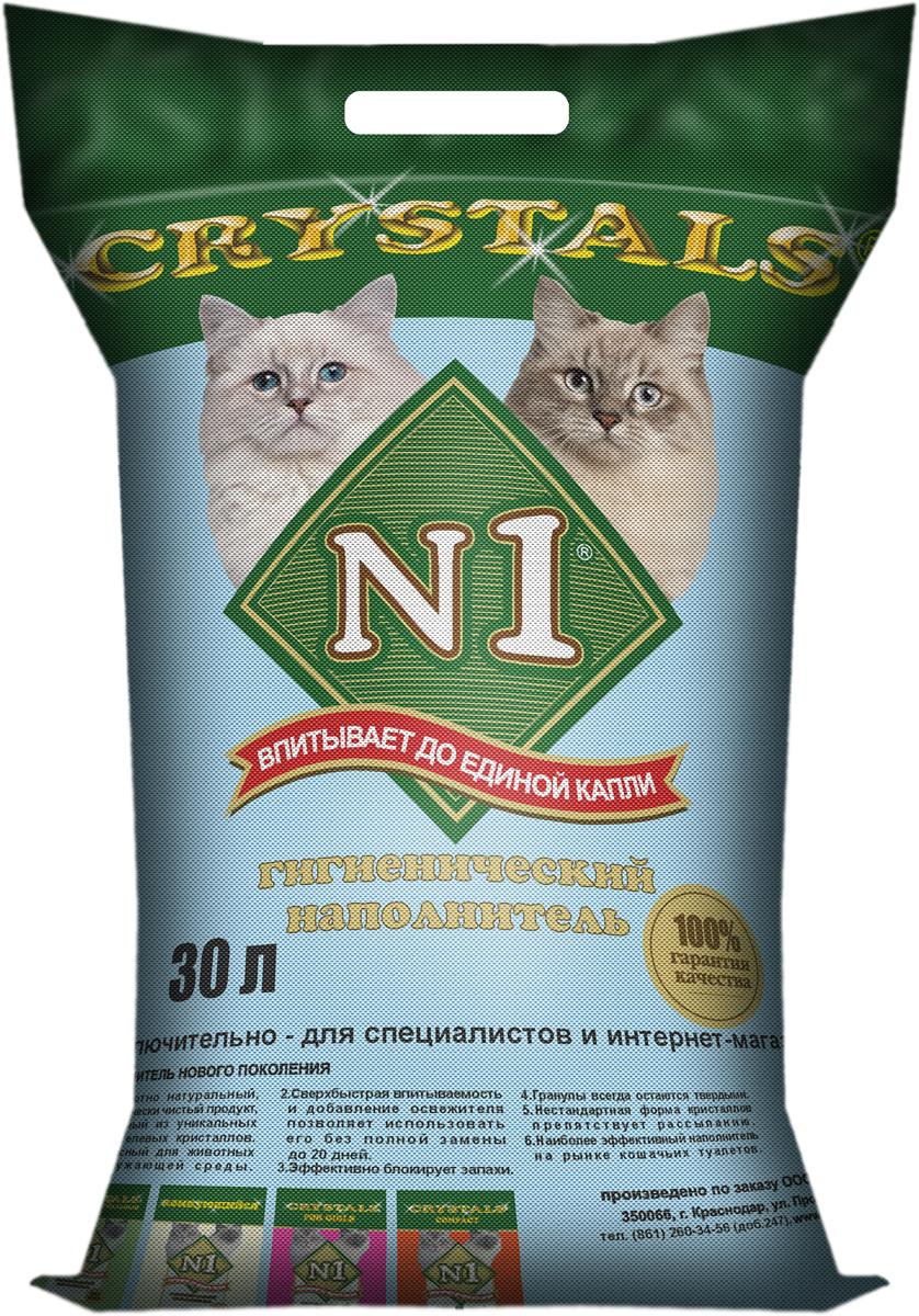 Наполнитель для кошачьего туалета №1  Crystals , силикагелевый, 30 л - Наполнители и туалетные принадлежности - Наполнители