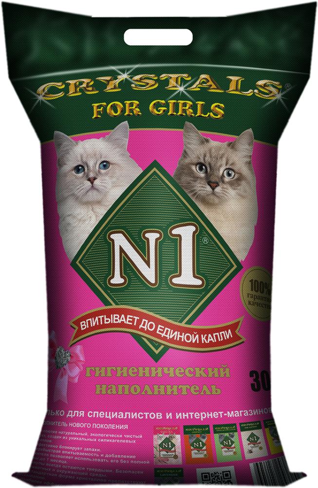 Наполнитель для кошачьего туалета №1  Crystals. For Girls , силикагелевый, 30 л - Наполнители и туалетные принадлежности - Наполнители