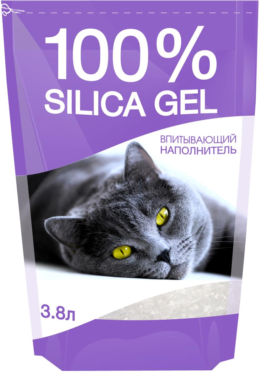 """Наполнитель для кошачьего туалета №1 """"Silica Gel"""", силикагелевый, 3,8 л"""