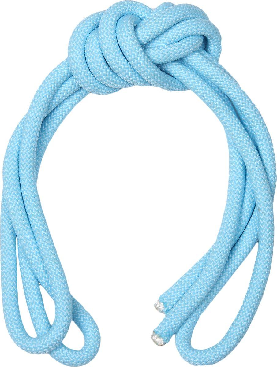 Скакалка гимнастическая Indigo, утяжеленная, цвет: голубой, 2,5 м00021634Скакалка для художественной гимнастики Indigo достаточно тяжелая и хорошо летает, но в то же время мягкая и в процессе обучения прыжкам не хлещет по ногам. Такая скакалка очень удобна и практична.