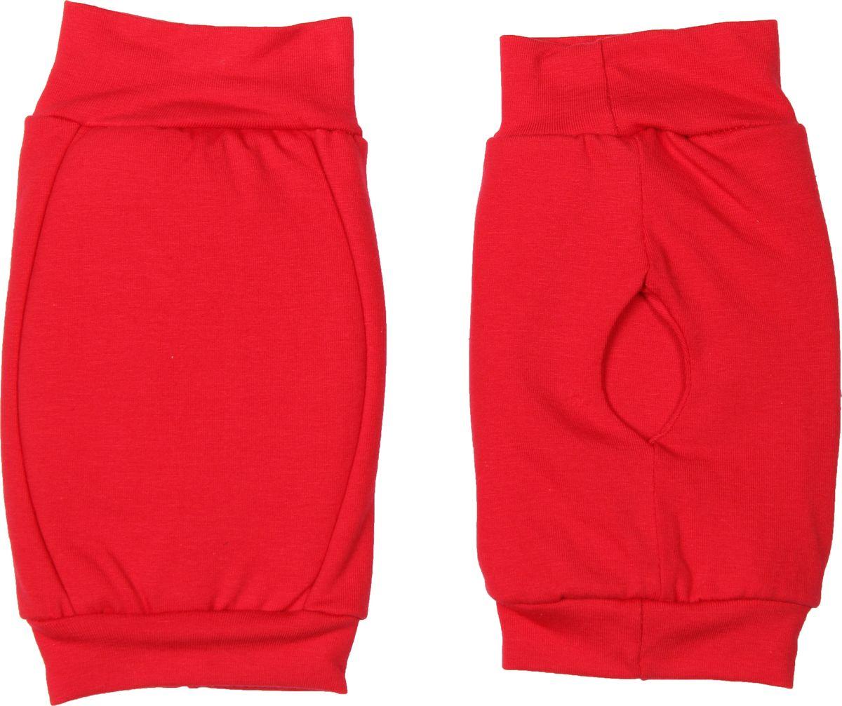 Наколенники для гимнастики и танцев Indigo, цвет: красный, 2 шт. Размер S