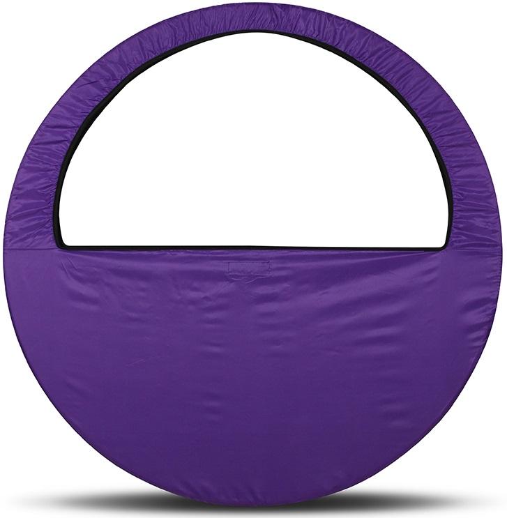 Сумка-чехол для обруча Indigo, цвет: фиолетовый, диаметр 60 х 90 см - Художественная гимнастика