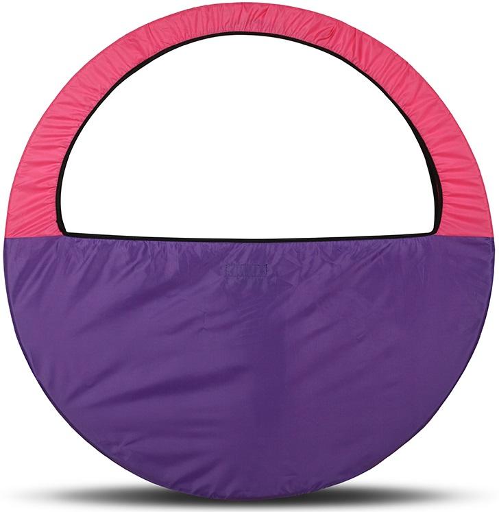 Сумка-чехол для обруча Indigo, цвет: фиолетово-розовый, диаметр 60 х 90 см - Художественная гимнастика