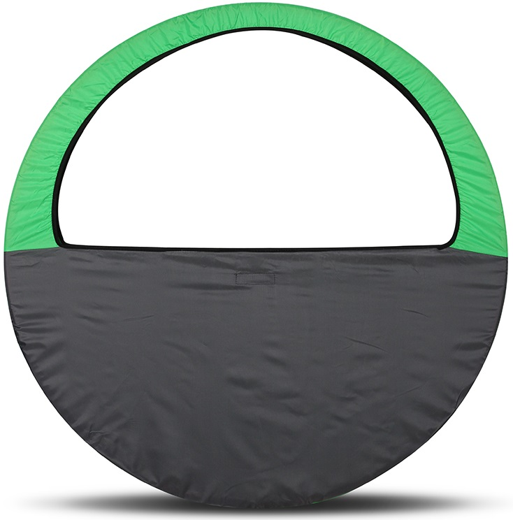 Сумка-чехол для обруча Indigo, цвет: салатово-серый, диаметр 60 х 90 см - Художественная гимнастика
