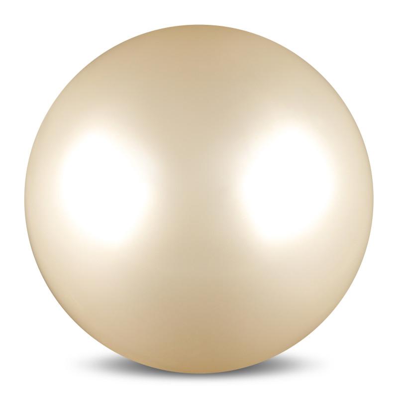 Мяч для художественной гимнастики  Indigo , силиконовый, цвет: белый, диаметр 15 см - Художественная гимнастика