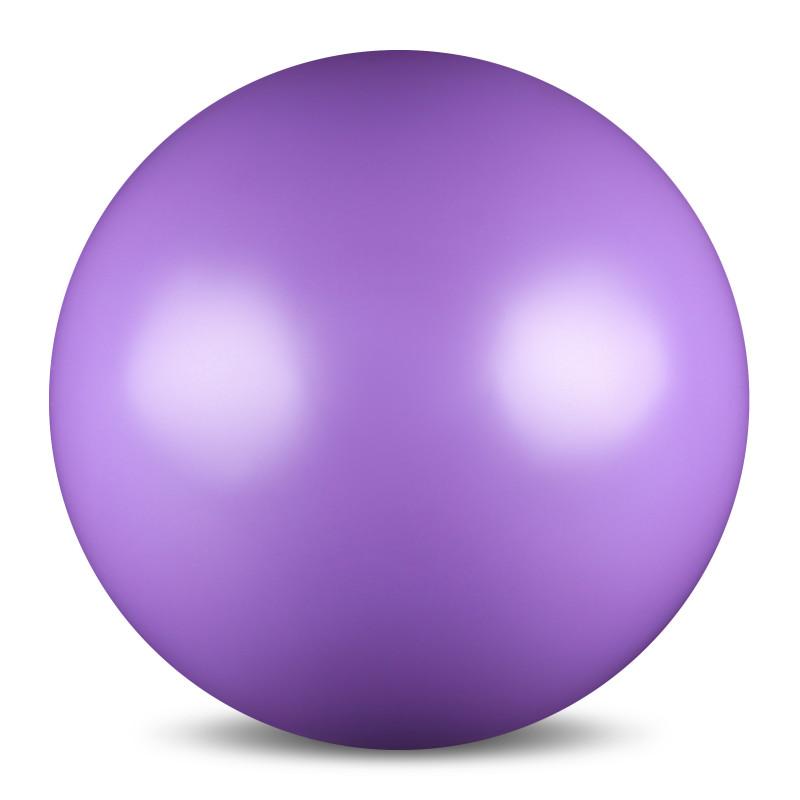 Мяч для художественной гимнастики  Indigo , силиконовый, цвет: сиреневый, диаметр 15 см - Художественная гимнастика