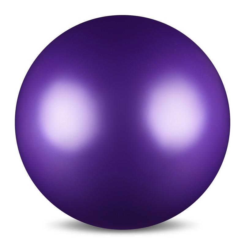 Мяч для художественной гимнастики  Indigo , силиконовый, цвет: фиолетовый, диаметр 15 см - Художественная гимнастика