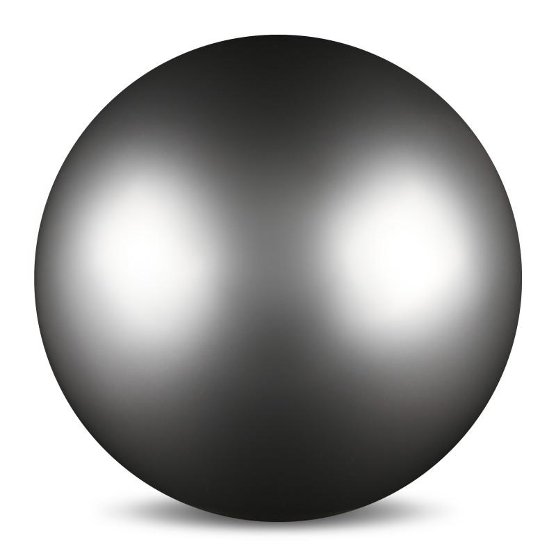 Мяч для художественной гимнастики Indigo, силиконовый, цвет: серый, диаметр 15 см шорты для гимнастики для малышей