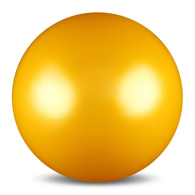 Мяч для художественной гимнастики  Indigo , силиконовый, цвет: желтый, диаметр 15 см - Художественная гимнастика