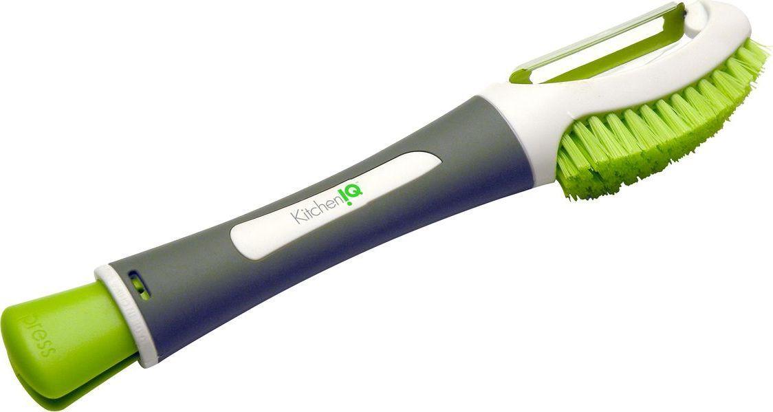 Мультитул с ножом KitchenIQ50423Мультитул - многофункциональный инструмент, обычно в виде складных пассатижей с полыми ручками, в которых спрятаны (с внутренней или внешней стороны) дополнительные инструменты (лезвие ножа, шило, пила, отвёртка, ножницы и т. п.). В отличие от обычных ножей с инструментами, мультитул имеет две рукоятки, в середине которых находится основной инструмент (пассатижи или ножницы).Мультитул с ножом KitchenIQ подходит для чистки овощей и фруктов.
