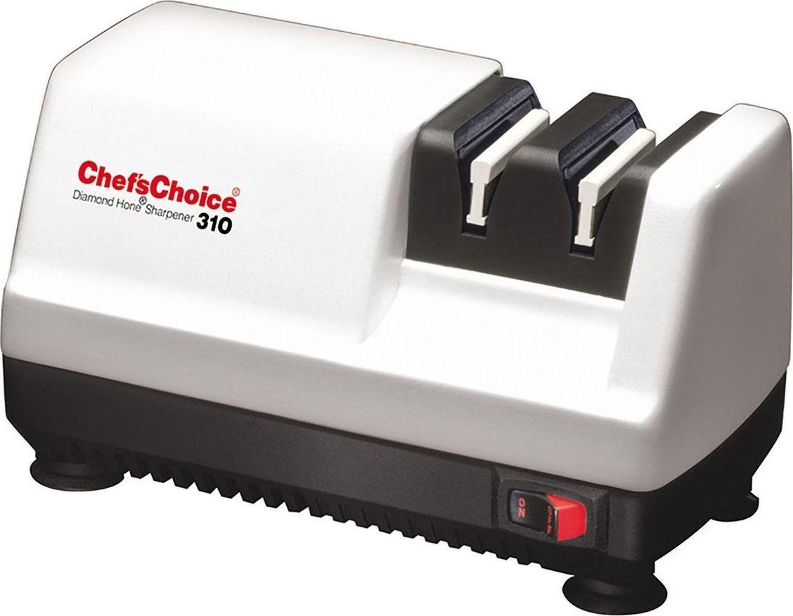 Небольшой электрический станок для заточки кухонных, карманных и охотничьих ножей идеально подойдет для домашнего использования. Он быстро возвращает изделиям их первозданную остроту, при этом прост в эксплуатации и не занимает много места на кухонной столешнице или в ящике. Подходит для заточки ножей европейских производителей. Количество этапов заточки: 2 Угол заточки: 20° Тип направляющей угла заточки: Магнитный  Тип абразивного покрытия: Алмаз Срок службы 1 комплекта заточных элементов: 1500-2000 Рекомендовано для: Кухонные ножи; Туристические и складные ножи Мощность двигателя: 45 Вт.