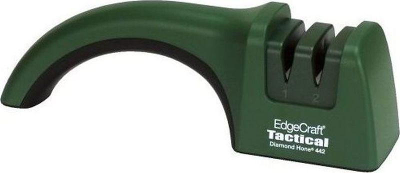 Точилка для ножей ChefsChoice, цвет: темно-зеленый. CH/442CH/442CH/442 гарантирует качественную двухуровневую обработку ножей под углом 20°. Станок от Chefs Choice поможет также аккуратно выправить лезвие. Еще один плюс – для использования данного инструмента не требуется электричество. Подходит для ножей из твердых материалов, особенно для рыбалки и охоты, поскольку заточные элементы содержат карбид. На первом этапе заточки стадии формируется первый основной угол заточки, а на второй стадии алмазные частицы окончательно формируют рабочие микрозубцы. Абразивные диски станка подходят как для обычных, так и для серрейтированных ножей. Из соображений надежности и безопасности модель Chefs Choice оснащена резиновыми ножками и эргономичной ручкой. Угол заточки: 20°Количество этапов заточки: 2Тип абразивного покрытия: АлмазРекомендована для: Кухонные ножи; Охотничьи ножи.
