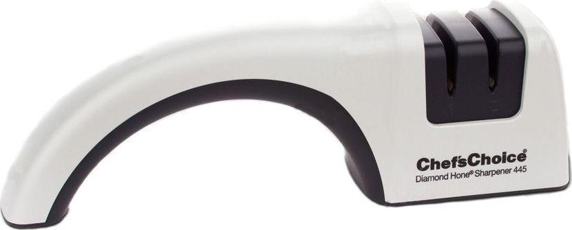 Патентованные направляющие угла, фиксирующие нож под необходимым углом заточки, двухуровневая система заточка, 100%-ые алмазные абразивы – гарантируют безупречный результат заточки: лезвие ножа острое как бритва без дополнительной доводки и полировки. Подходит для кухонных ножей с обычными (не серрейтированными) лезвиями, а также для карманных и охотничьих ножей. Затачивает лезвие от больстера до кончика лезвия.  Механическая точилка Chef