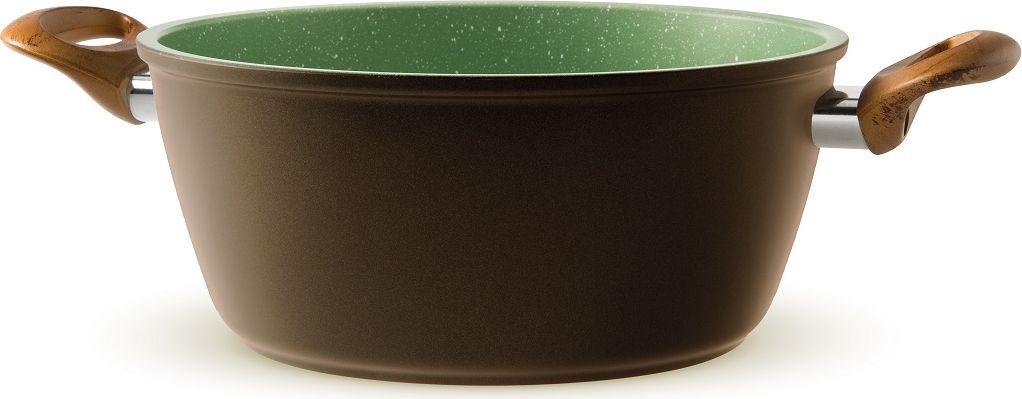 Кастрюля Giannini Vegetalia, цвет: зеленый, 2 л. Диаметр 20 см6567Антипригарное покрытие на водной основе — 5 слоев. Внешние слои устойчивы к пятнам и высоким температурам. Запатентованное покрытие Ollia-tech — эта смесь растительных масел в составе покрытия улучшает антипригарные свойства и делает поверхность гладкой, без пористости. Минеральные частицы, добавленные в покрытие, гарантируют повышенную устойчивость к истиранию. Ручки из смолы, с эффектом оливкового дерева, устойчивы к мытью в посудомоечной машине. Без кислоты (PFOA FREE). Сделано в Италии. Подходит для всех типов плит. Не применять агрессивных моющих и абразивных средств. Протирать мягкой влажной тканью.