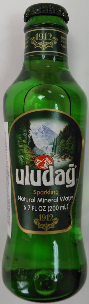 Uludag Минеральная вода газированная, 0,2 л uludag frutti extra дыня напиток слабогазированный 0 25 л