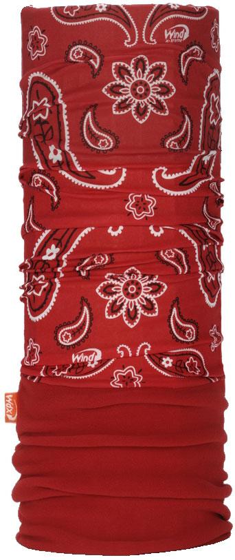Бандана Wind X-Treme PolarWind, цвет: красный. 2052. Размер универсальный2052Многофункциональный головной убор Wind X-Treme Polarwind - это современный предмет одежды, который защитит вас от самого лютого мороза благодаря комбинации флиса и микроволокна. Его можно использовать как шапку, бандану, маску, шарф, повязку, платок. Изделие обладает антибактериальным эффектом и подходит для занятий бегом, походов, скалолазания, езды на велосипеде, сноуборда, катания на лыжах, мотоциклах, игры в хоккей, а также для повседневного использования.Сочетание ткани и флиса гарантирует дополнительные тепло и комфорт, отведение влаги, быстрое высыхание. Бандана-туда подходит для обхвата головы 53-62 см.
