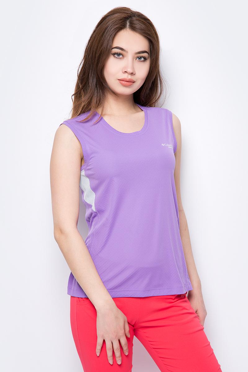 Купить Майка женская Columbia Titan Ultra W SS Shirt, цвет: сиреневый. 1780461-523. Размер XS (42)